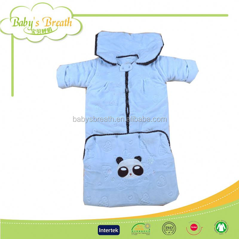 BSB645 wholesale low price high quality down camping durable swaddle baby sleeping bag, cute hippo sleeping bag