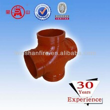 Hot sell Red polish grooved equal cross coupling