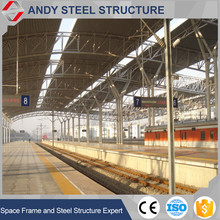Galvanized Arch Roof Structure Steel Truss System for Train Station