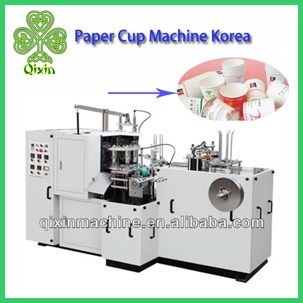 High Speed single or double PE coated Paper Cup Machine Korea QXCZ-12