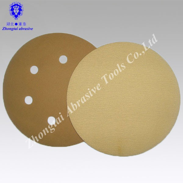 High quality Yellow 7 inch abrasive sanding disc