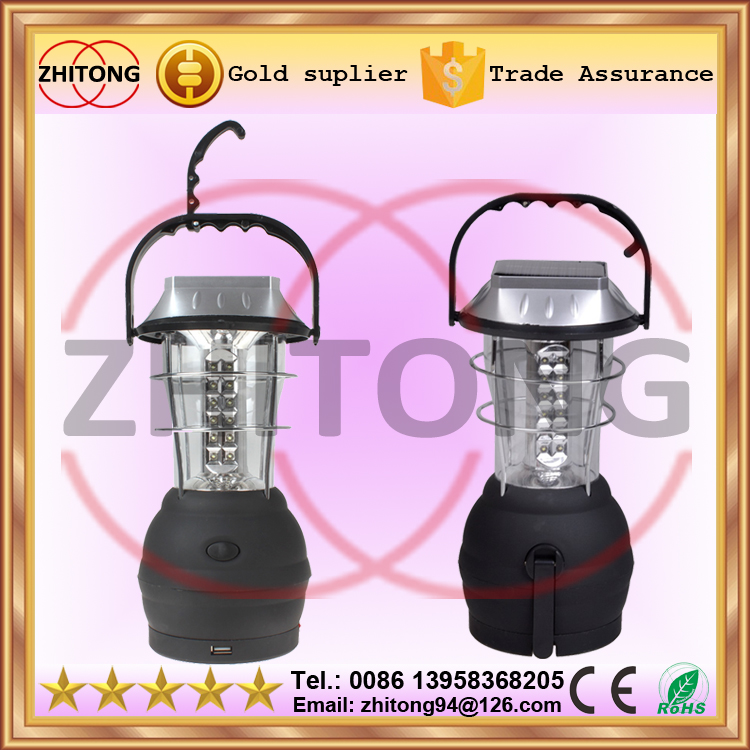 handheld 36 LED Solar Powered camping Lantern Handcrank Emergency Camping Light USB output 3*AAA Alkaline battery