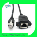 RJ45 Cat5e Male to Female panel mount Ethernet LAN Network extension Cable