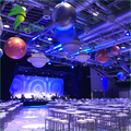 LED Lighting Decorative Air Earth / Moon Balloon Inflatable Hanging Planets for Party Event