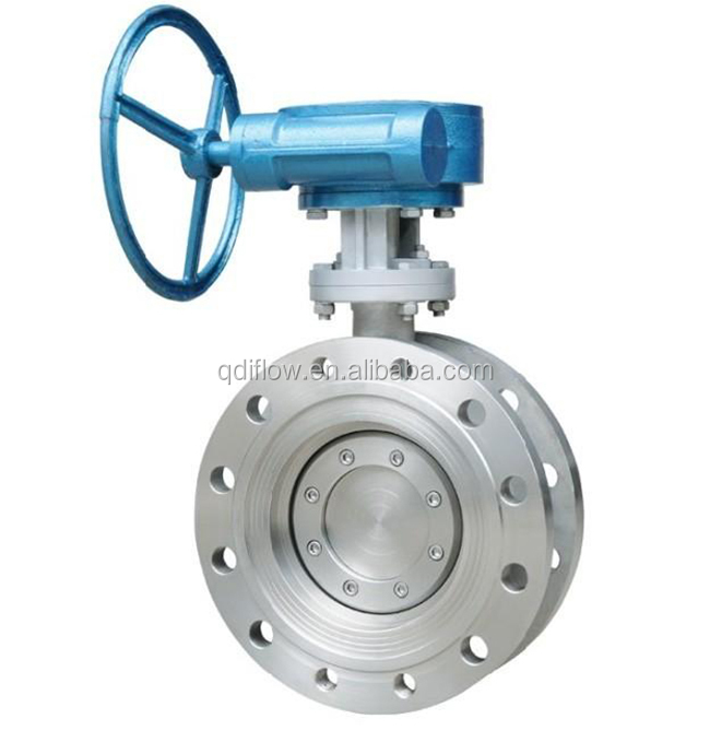 600LB Double Flange Metal Seated Triple Eccentric Butterfly Valve WCB
