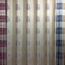 Home decor coffee room 100% polyester yarn dyed jacquard curtains for royal drape