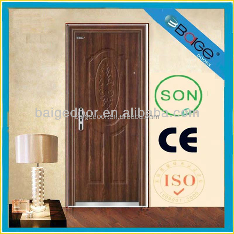 BG-S9012 New Edge Spanish Exterior Steel Security Single Door
