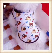 Style strawberry printing spring pet clothes for dogs