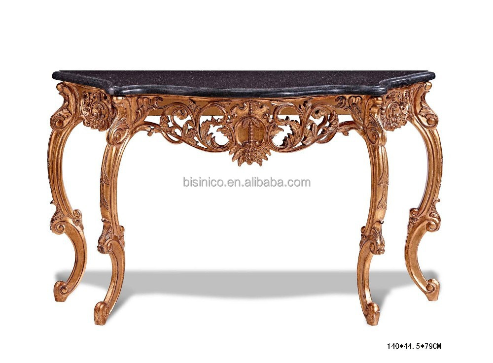 marble top wood console table