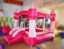 Pink Indoor used inflatable bouncy castle inflatable jumping house for children