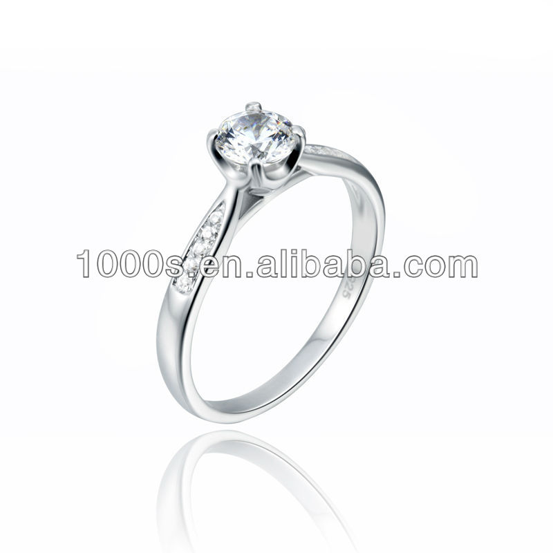 Fashion Jewellery, Cubic zirconia stone 925 silver jewelry rings