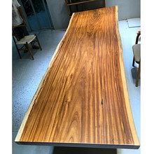Long whole piece tree log walnut wood slab table top for dining table furniture