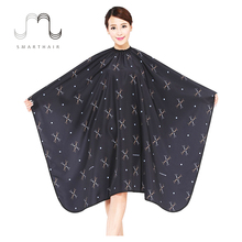Alibaba Best Selling Customized Printed Barber Capes with Scissors Pattern