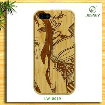 China Supplier natural wood wooden engrave designs mobile phone cover for q