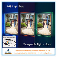 Remote control RGB picture frames advertising light box distributors wanted 16*24inch