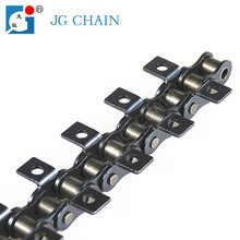 Attachment roller chain industrial single strand steel conveyor chain