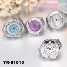 2016 latest cheap alloy digital watch ring for men with stones