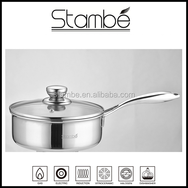 Most Popular 16cm, 18cm triply milk pan cookware stainless steel
