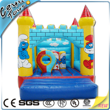 Indoor and Outdoor Commercial Sportful Smurfs Inflatable Bouncer