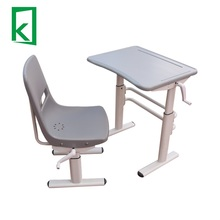 QJX1103 height adjustable school desk student desk and chair school furniture