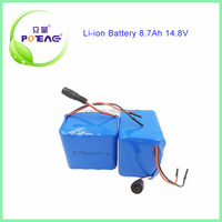 icr 18650 li-ion battery pack 14.8v 8700mah rechargeable battery for robot vacuum cleaner battery