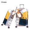 2017 hot sell four wheels colorful custom travel hard case royal abs trolley luggage