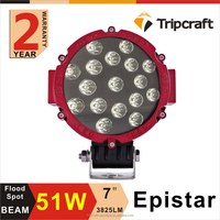 New Red Ring led 4x4 auto working light offroad 51w led work light led driving lights