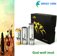 New Arrival!! Stainless steel god wolf mod in low price/ ecig mod god wolf mod
