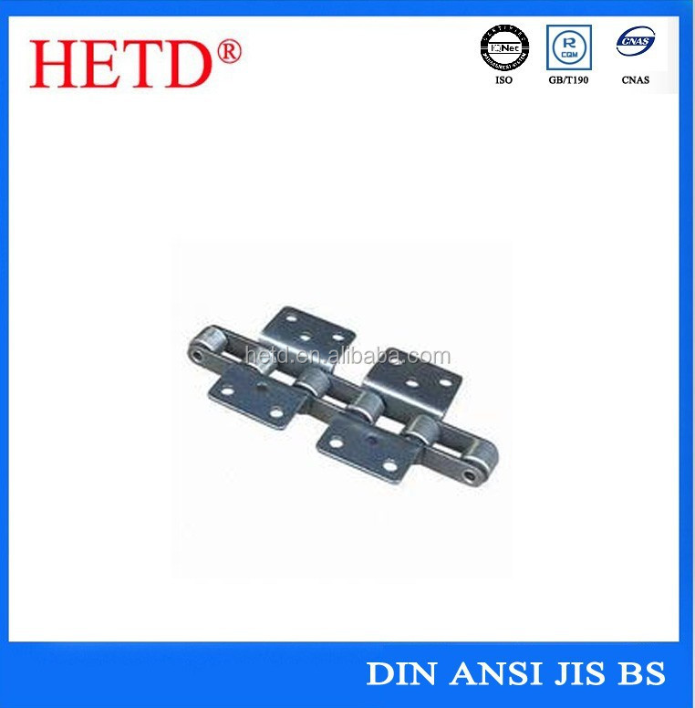 hetd brand high quality cast steel conveyor chain agricultural chain with attachment roller chain