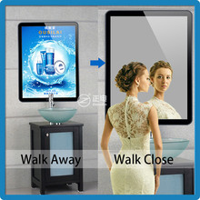 Magic mirror white color 3528 high brightness tablet ABS super slim menu light box with led display for restaurant advertising