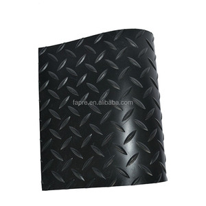 Anti Slip Outdoor Weather Resistance Checker Plate Rubber Matting Flooring