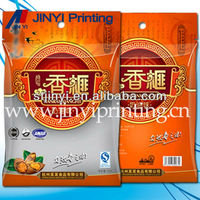 Laminated printed plastic carrier bags for snack food packaging