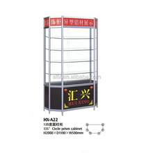 Decoration wall mounted accessories display cabinets wall wood design glass display showcase