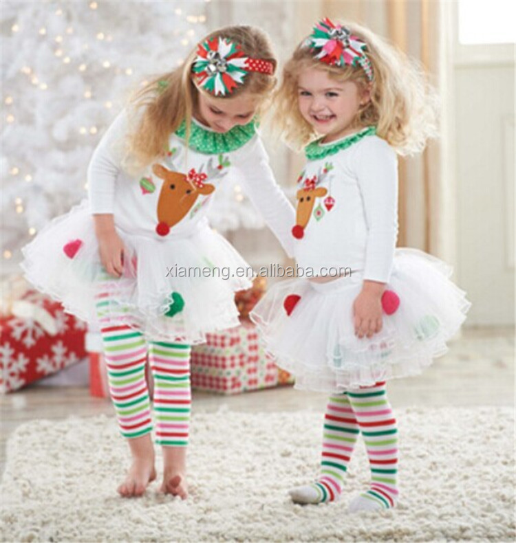 On sale!!christmas 2pcs sets wholesale baby clothing layette