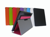 leather multi-folding stand function leather case for iPad ait 2 ,sleep function tablet case for iPad 6