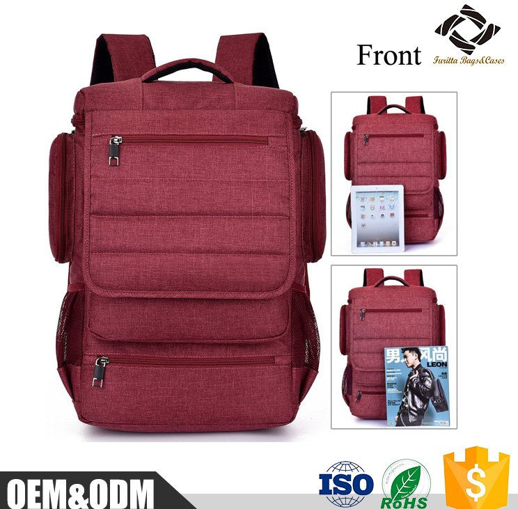 China factory Nylon Slim Business large capacity multifunctional 15'' inch high school backpack laptop backpack bags