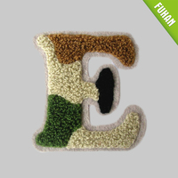 China Factory color Towel embroidered patch in letter and number