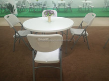 40inch hdpe high quality plastic folding round table, half moon banquet table,restaurant round folding table tops