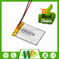Smallest rechargeable 3.7V 303040 320mAh li-polymer battery