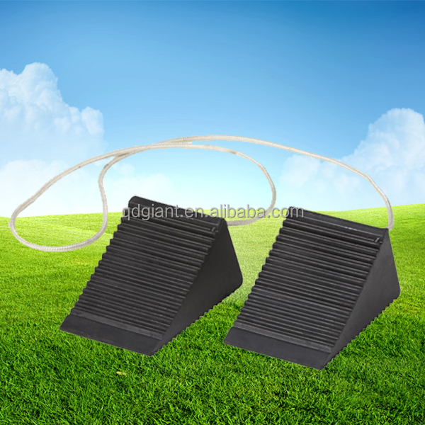 Sturdy Wheel Blocks For Cars 0.34kg rubber wheel chock