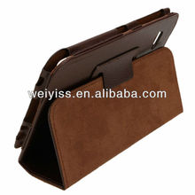 "7"" Tablet PC Leather Stand Case for Samsung Galaxy Tab P6200/P6210 Brown"