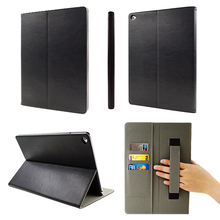 Wholesale Manufacturer Price 9.7 Inch Tablet PC Leather Case for Ipad Air with Hand Strap
