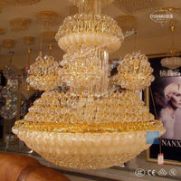 2013 small decorative low cost bohemia decorative lobby crystal chandelier large for hotel ETL800136