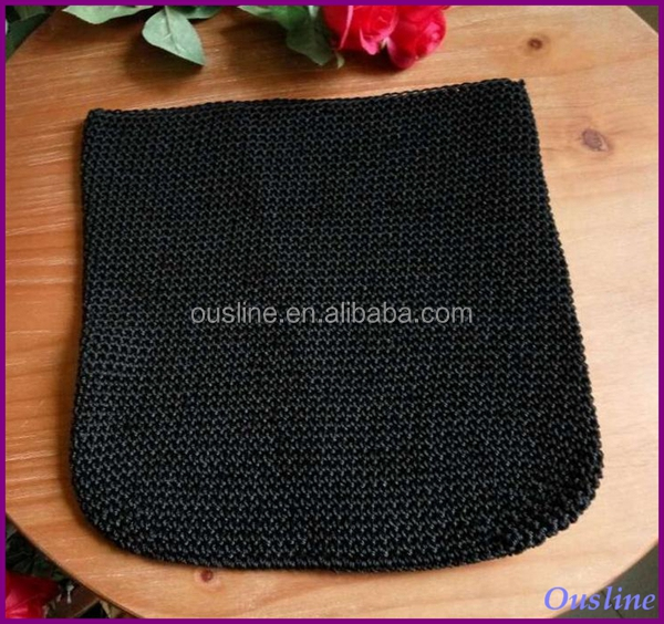 black crochet purse, crochet shopper bag pattern