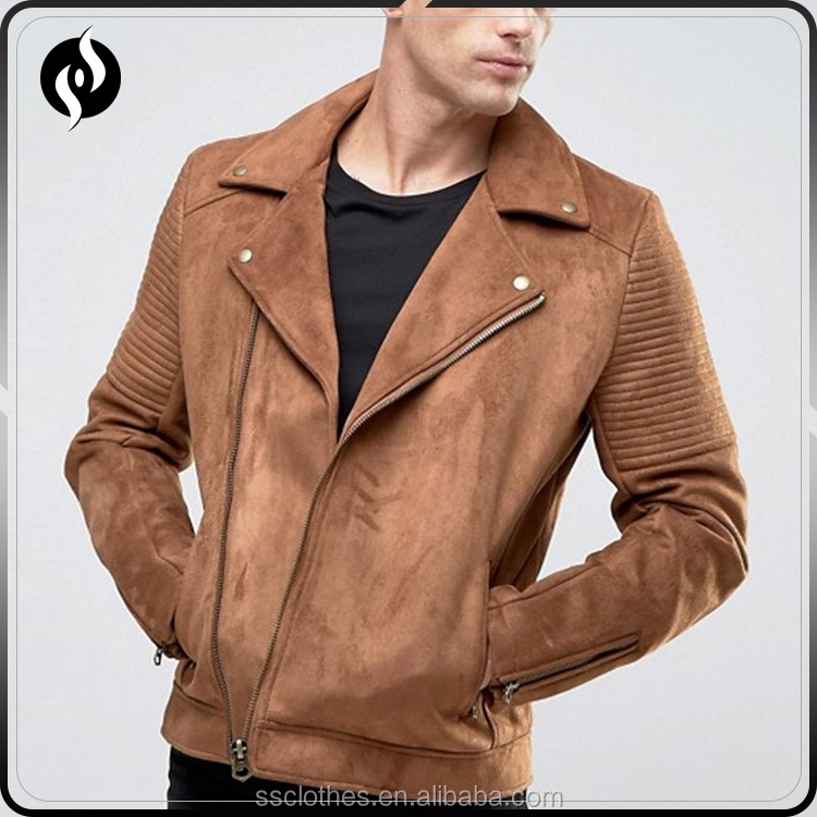 High quality fashion custom bomber leather jacket , men suede jacket with best price