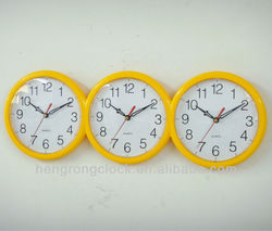 world time wall clock world time zone clocks 3 clocks different times