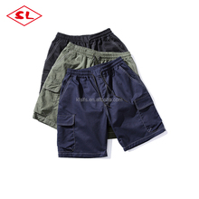 cargo shorts men half pants breathable shorts elastic waist shorts for men