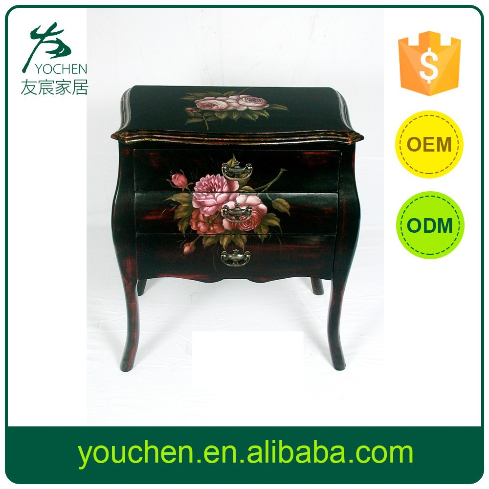 Best Selling Customize Hand Painted Cabinet With Flowers