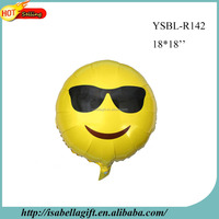 Free Shipping Party Supplies Custom Smiley Face Emoji Helium Mylar Foil Balloon