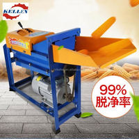 2017 new type high output power automatic feeding corn sheller and thresher